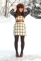 brown blimey oxfords seychelles shoes - forest green plaid TJMaxx dress - dark b
