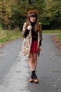Brown-tjmaxx-coat-brown-mink-vintage-hat-black-turtleneck-thrifted-sweater