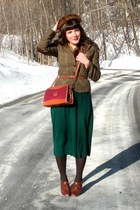 brown blimey oxfords seychelles shoes - camel tunic dress - dark brown mink vint