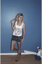 Sportsgirl top - Lee shorts - Country Road belt - Novo shoes