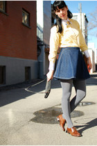 navy American Apparel skirt - heather gray modcloth tights