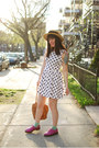 White-h-m-dress-light-brown-vintage-hat-tawny-vintage-bag