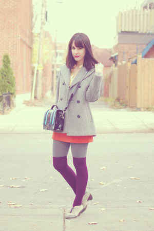 heather gray Urban Outfitters shoes - heather gray thrifted vintage coat