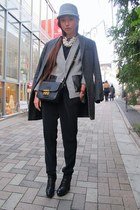 black Dolce Vita boots - charcoal gray Zara coat - heather gray The Shelter hat