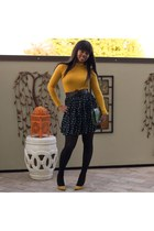 black You Like It I Made It skirt - mustard turtleneck Forever21 shirt