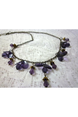 amethyst you know u love me necklace