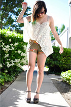 white Sugarlips top - olive green Urban Outfitters romper