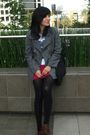 Gray-coat-pink-american-apparel-skirt-black-zara-purse