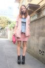 Black-busted-jeffrey-campbell-boots-light-pink-pinky-jacket-2tokyo-jacket