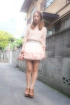 light pink nadesico skirt - peach American Apparel skirt
