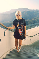 Givenchy t-shirt - Marc by Marc Jacobs bag - Celine sunglasses - chicnova heels