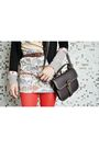 Black-grey-antics-cardigan-brown-urban-outfitters-purse-white-zara-skirt-w