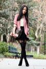 Pink-kimchi-blue-blazer-nude-monki-shirt-black-topshop-tights-dark-brown-d