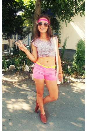 hot pink jeans denimco shorts