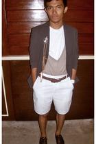 Hanes shirt - Bossini sweater - Onesimus blazer - Ralph Lauren shorts - WADE sho