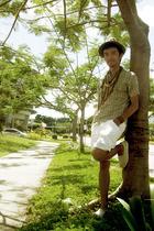 Ralph Lauren shorts - abercrombie & fitch shirt - YVES Identify necklace - SM De
