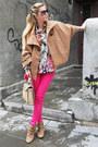Camel-boots-hot-pink-jeans-zara-shirt-camel-bag-camel-cape