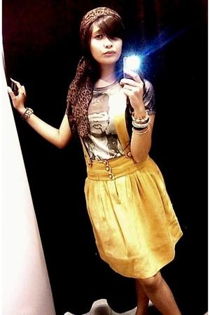 Mango skirt - Zara scarf - baby-G accessories - t-shirt