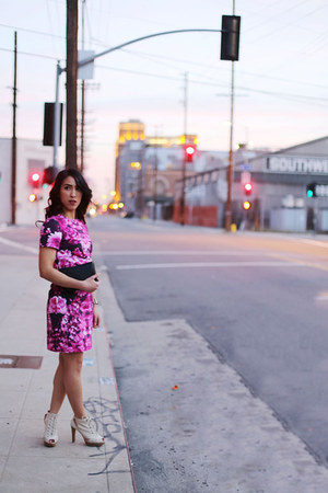 hot pink mirror floral Michael Kors dress