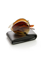 Limited Edition Premium Folding Pocket Metal Aviator Sunglasses + Case 8763