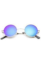 Retro Lennon Style Round Circle Metal Mirror Lens Sunglasses 1408