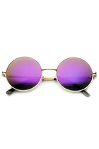 RETRO FLASH REVO MIRROR LENS ROUND LENNON METAL SUNGLASSES 9203