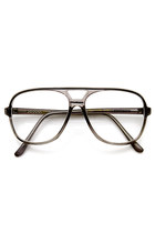 MEN'S 1980'S RETRO FASHION TRANSLUCENT SQUARE AVIATOR GLASSES 9310