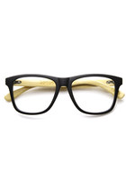 LIMITED EDITION BAMBOO CLEAR LENS TWO TONE WAYFARER CLEAR LENS GLASSES 9230