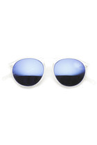 Trendy Retro Frosted Frame Revo Mirror Lens Round Sunglasses 8961
