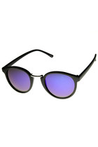 DAPPER FLASH REVO LENS MATTE BLACK ROUND WAYFARER SUNGLASSES 9148