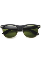 1950's Eyewear Fashion Soft Touch Rubberized Clubmaster Wayfarer Sunglasses 8913