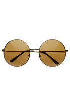 gold zeroUV sunglasses
