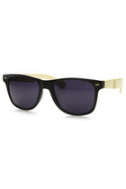 ECO FRIENDLY LARGE GENUINE BAMBOO WOOD TEMPLE WAYFARER SUNGLASSES 9304