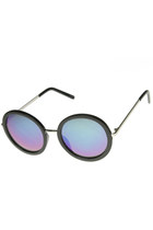 WOMENS OVERSIZE TRENDY ROUND CIRCLE FASHION REVO MIRROR LENS SUNGLASSES 9187