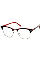 RETRO TWO TONE COLORFUL CLEAR LENS HALF FRAME WAYFARER GLASSES 9184