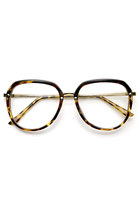 WOMENS 1980'S FASHION RETRO CLEAR LENS OVERSIZE GLASSES 9295