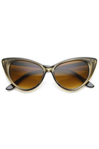 Mod Womens Retro 1950's High Pointed Cat Eye Sunglasses 8941