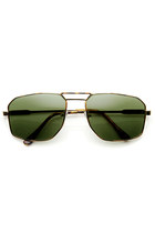 MODERN MENS FASHION GQ SQUARE METAL AVIATOR SUNGLASSES 8989