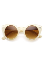 Womens Chic Retro Round Circle Cat Eye Sunglasses 8978