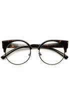 INDIE HIPSTER RETRO ROUND CAT EYE CLEAR LENS GLASSES 9351