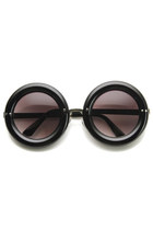 Unique Womens Fashion Thick Donut Round Retro Sunglasses 8971