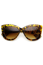 OVERSIZE THICK TEMPLE WOMENS FASHOIN CAT EYE SUNGLASSES 9167