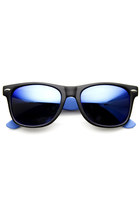 Retro 1980's Two-Tone Neon Revo Mirror Lens Wayfarer Sunglasses 8911