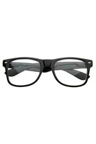 RETRO COLORIZE FRAME CLEAR LENS WAYFARER GLASSES 2951