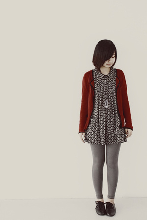 red Mango sweater - black Topshop dress - gray Zara tights - black Steve Madden