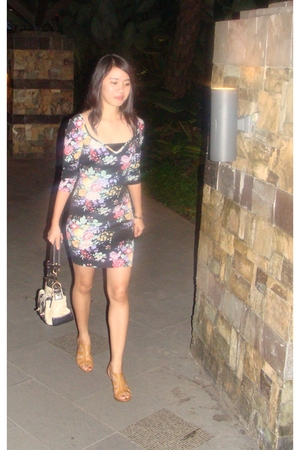 Topshop dress - coach purse - Connie shoes