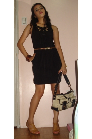 Charlotte Russe dress - coach purse - Connie shoes - Topshop belt - Local Depart