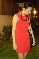 Topshop dress - Prada shoes - Zara bag - Sportsgirl necklace