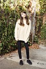 Black-creepers-tuk-shoes-wool-vintage-sweater