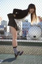 black oxfords Deandri shoes - black vintage blazer